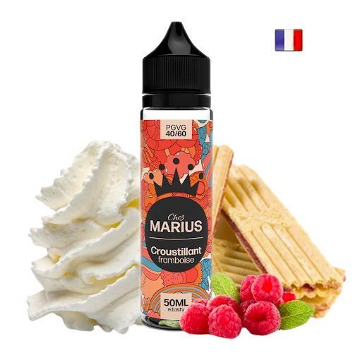 Prêt à booster 50ml Croustillant Framboise Chez Marius E-tasty
