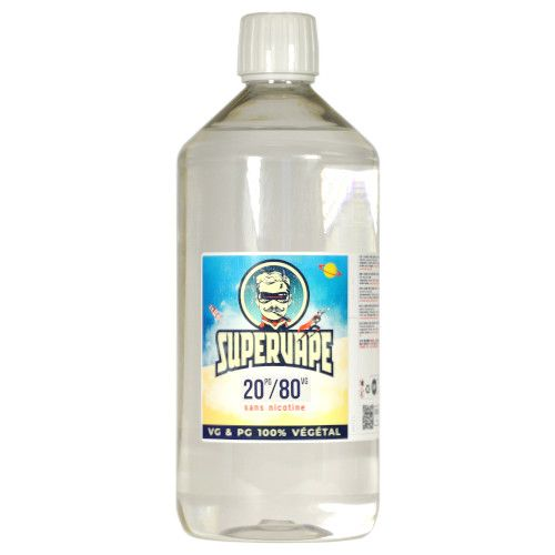Base SuperVape 1 litre 20/80 pour e-liquide DIY