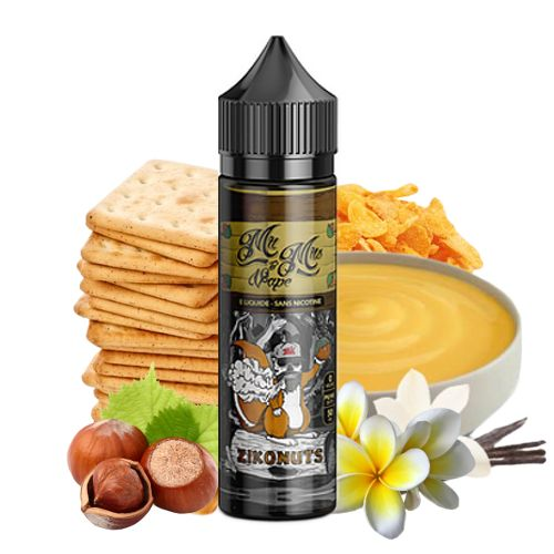 Prêt à booster Zikonuts Mr & Mrs Vape 50ml