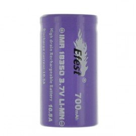 Accus EFEST 18350 IMR Purple 700 mAh 10,5A
