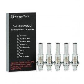 Résistances Kanger VOCC Single Coil pour Evod 2, Protank 3