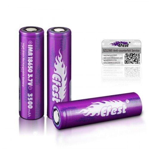 Accus EFEST IMR 18650 Purple 3500mAh 20A