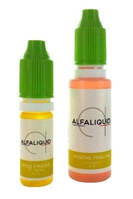 E-liquides pour cigarette électronique Alfaliquid 10ml et 30ml