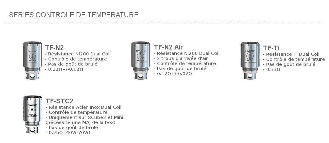 Résistance TFV4 pour controle de température