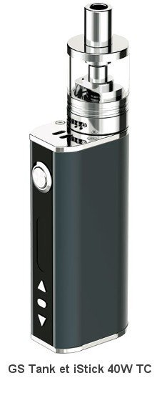 Pack iStick 40W TC et GS Tank par eLeaf