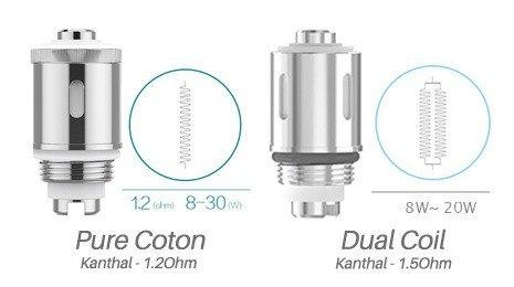 Résistances GS Air Pure Coton et Kanthal